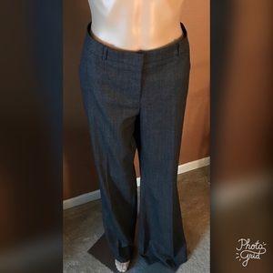Hugo Boss Tusini Virgin Wool Wide Leg Trousers